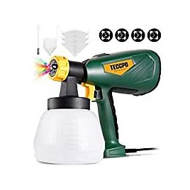 Teccpo 600W Paint Sprayer with 1300ml Detachable Container for $25.65
