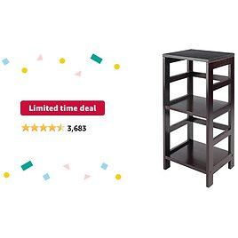 Limited-time Deal: Winsome Leo Model Name Shelving, Tall, Espresso