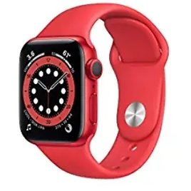 Apple Watch Series 6 40mm GPS Smartwatch (Aluminum Case with Red Sport Band) from Amazon.com