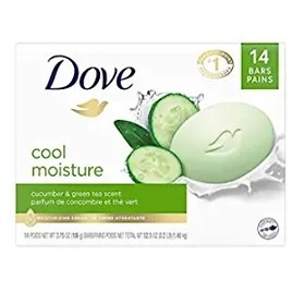 14-Pack Dove Cool Moisture Soap Bar, 3.75 Oz from Amazon.com