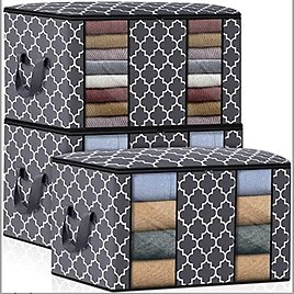 Fab Totes Clothes Storage Bag Organizer [3 Pack/100L] from Amazon.