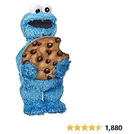 Sesame Street Peekaboo Cookie Monster Talking 13-Inch Plush Toy for Toddlers, Kids 18 Months & Up, Blue