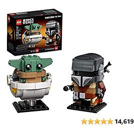 LEGO BrickHeadz Star Wars The Mandalorian & The Child 75317 Building Kit, Toy for Kids and Any Star Wars Fan Featuring Buildable The Mandalorian and The Child Figures (295 Pieces)