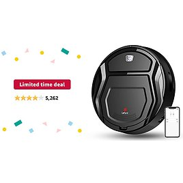 Limited-time Deal: Lefant Robot Vacuum Cleaner, Auto Robotic Vacuums, Upgraded 6D Collision Sensor, 1800pa WiFi/App/Alexa, Self-Charging, Super Quiet Mini Cleaning Robot for Pet Hair, Hard Floor, Low Pile Carpets, M201