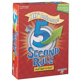 5 Second Rule Game 10th Anniversary Edition Family Game