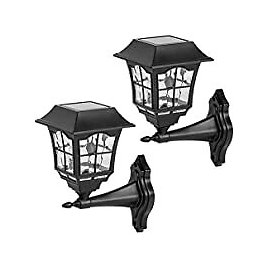 2-Pack Viewsun Outdoor Solar Lights Wall Decorative LED Light for $9.99