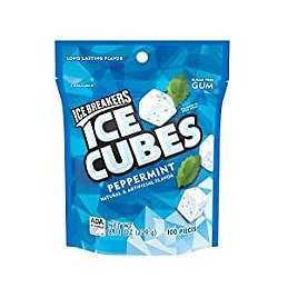 100-Pieces Ice Breakers Ice Cubes Peppermint Sugar Free Chewing Gum for $5.93