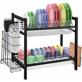 2 Tier Dish Drying Rack from The AmaZon.