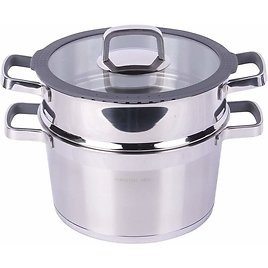 Stainless Steel Double Layers Pot for Cooking Soup and Steaming Food,6.3-Quart Pot with Basket from Amazon