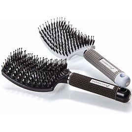 Boar Bristle Hair Brush Set - Curved and Vented for Wet or Dry Detangling Hair Brush for Men and Women for $16.97