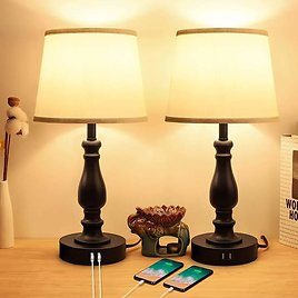 Set of 2 Touch Control Bedside Lamps from Amazon.