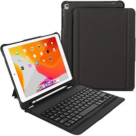 50% Off IPad 10.2 Inch Bluetooth Keyboard Case with Built-in Stand & Pencil Holder