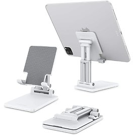 """Foldable Tablet Stand, Compatible with IPad/Samsung Tabs/Smartphones/Other Tablet (Up to 11"""")"""