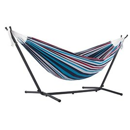 Viveres Double Denim Hammock Combo with 9ft Stand