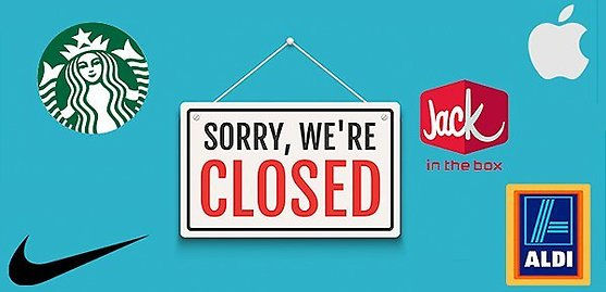 Stores Open & Closed Due to COVID-19