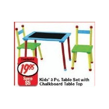 Kid's 3-Piece Tablet Set with Chalkboard Table Top