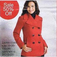 Ladies Coats (Assorted Styles) 50% off