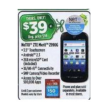 NeT10 ZTE Merit Android Cell Phone (Thursday)