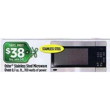 Oster Stainless Steel 0.7 cu.ft. Microwave (Thursday)