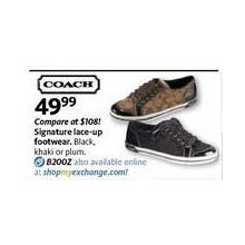 Coach Signature Lace-up Footwear