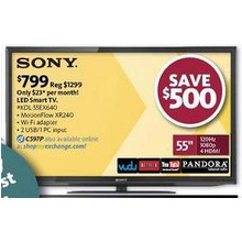 "Sony 55"" 1080p LED Smart HDTV with WiFi"