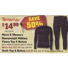Terramar Youth Military Fleece Top & Bottom