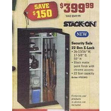 Stack-On Security Safe, 22-Gun E-Lock