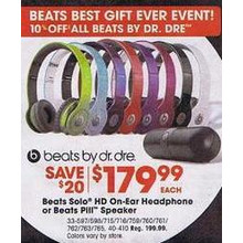 $10 Off Entire Stock of Beats by Dr. Dre