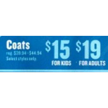 Coats for Adults (8am - 12pm)