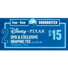 Disney Pixar DVD & Exclusive Graphic Tee (4am - 8am)