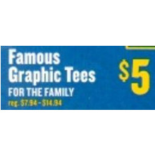 Famous Graphic Tees for the Family (Saturday)