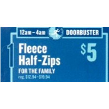 Fleece Half-Zips for the Family (12am - 4am)