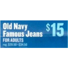 Old Navy Famous Jeans for Adults (12am - 4am)