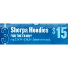 Sherpa Hoodies for the Family (8am - 12pm)