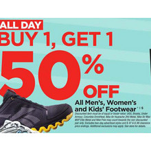 Mens, Womens and Kids Footwear  - B1G1 50% Off
