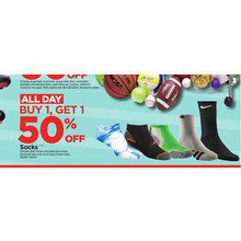 Socks  - B1G1 50% Off