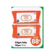 Kidgets Baby Wipes 72-ct. (Thursday 8AM to 5PM)