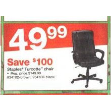 Staples Turcotte Chair (Brown)