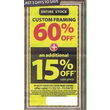 Custom Framing (Entire Stock) - 66% OFF