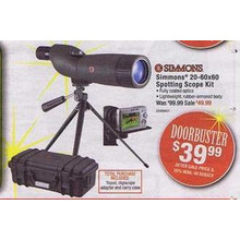 Simmons 20-60x60 Spotting Scope Kit - Includes Tripod, Digiscope Adapter, and Carry Case