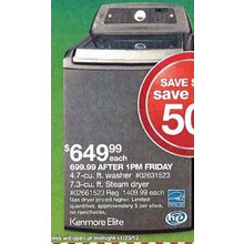 Kenmore Elite 7.3 cu. ft. Electric Dryer - Metallic