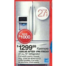 Kenmore 26.7 cu. ft. French-Door Bottom-Mount Refrigerator - Stainless Steel