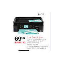 Epson Expression Home Small-In-One All-In-One Inkjet Printer, Copier, Scanner