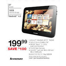 "Lenovo IdeaTab A2 9"" Tablet"