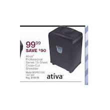 Ativa Professional 15-Sheet Cross-Cut Shredder