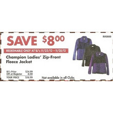 Save $8 on Champion Ladies' Zip-Front