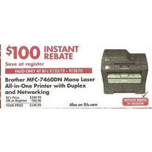 Brother MFC-7460DN Monochrome Laser All-in-One Printer
