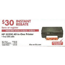 HP 5525E All-in-One Printer w/ Free USB Cable