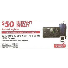 Sony DSC-W650 16MP 5x Zoom Digital Camera Bundle