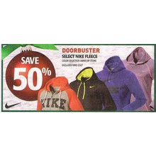 50% Off Nike Fleece (Select Styles)